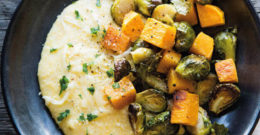 Polenta with Roasted Vegetables and Parmesan