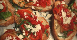 Mixed Pepper Ricotta Toast
